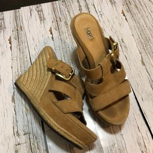 UGG wedge sandals size 6 women's